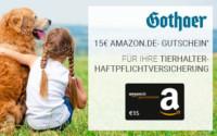 Gothaer Tierhalterhaftpflichtversicherung Amazon Gutschein