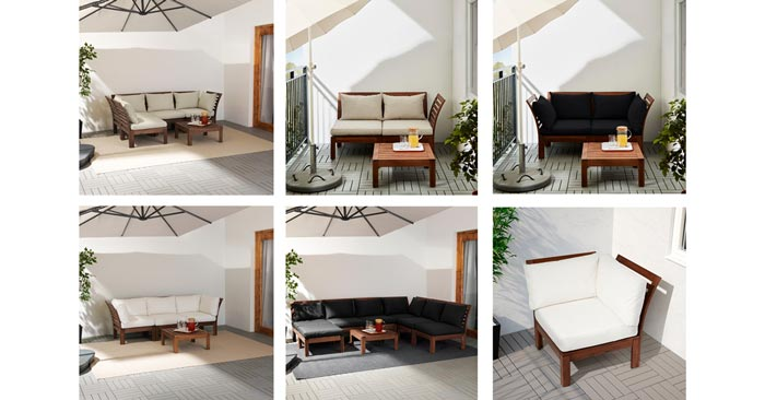 20€ Rabatt auf IKEA Äpplarö Loungemöbel - z.B. Eckelement für 59€