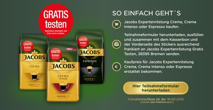 Jacobs Expertenröstung Kaffeebohnen