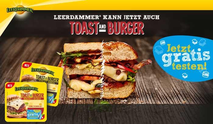 Leerdammer Toast and Burger Käse gratis testen