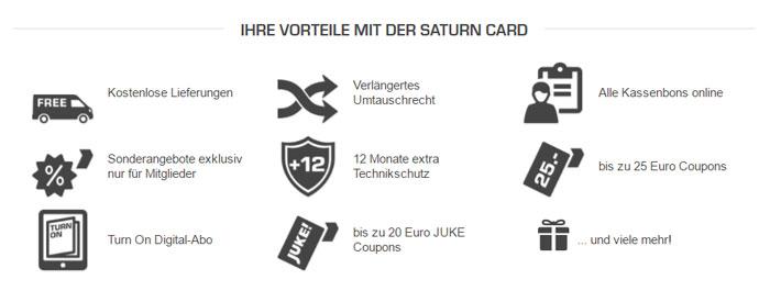 Saturn Card Vorteile