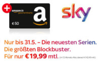 Sky Entertainment + Cinema + 50€ Amazon