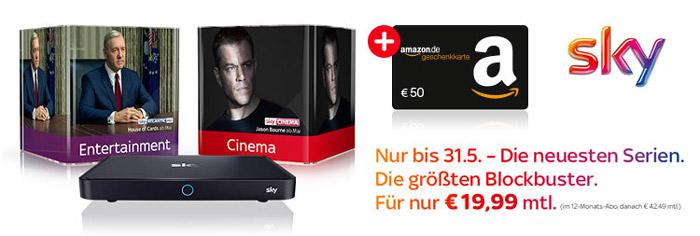 Sky Entertainment + Cinema + 50€ Amazon