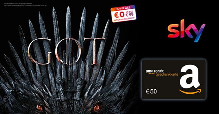 Sky Entertainment HD + 50€ Amazon