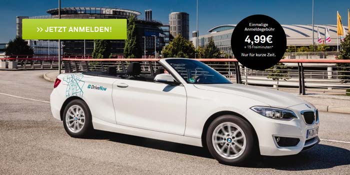 DriveNow Sommer-Special