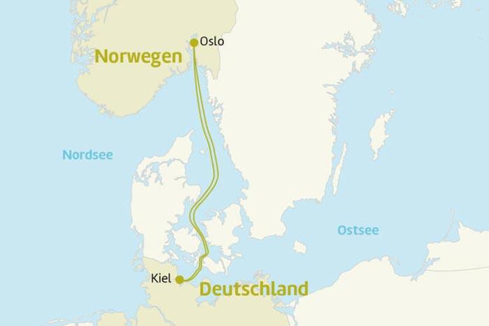 Kreuzfahrt Oslo Strecke