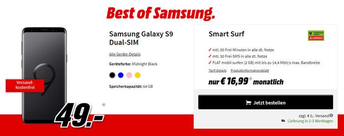 Vodafone Smart Surf Tarif + Galaxy S9