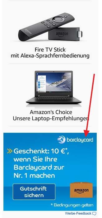Amazon Barclaycard Banner