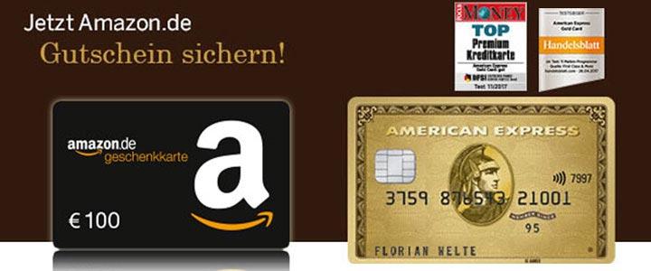 American Express Gold Kreditkarte + 100€ Amazon Gutschein