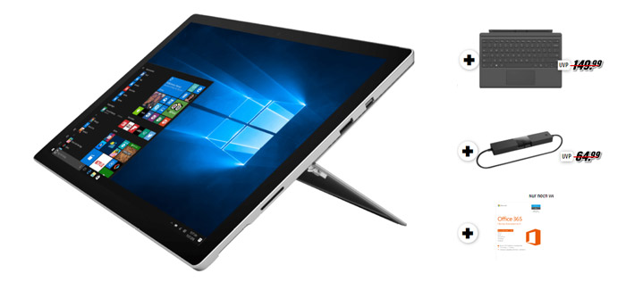 Microsoft Surface Pro 4 (Intel Core m3-6Y30/4GB RAM/128GB SSD)