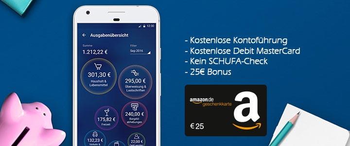 o2 Banking Girokonto + Amazon Gutschein