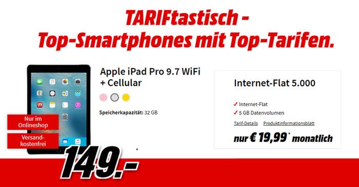Vodafone Datenflat + iPad Pro