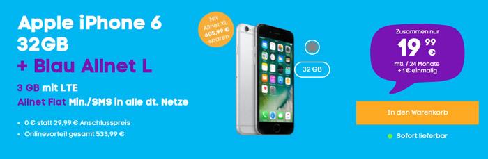 Apple iPhone 6 + Blau Allnet L
