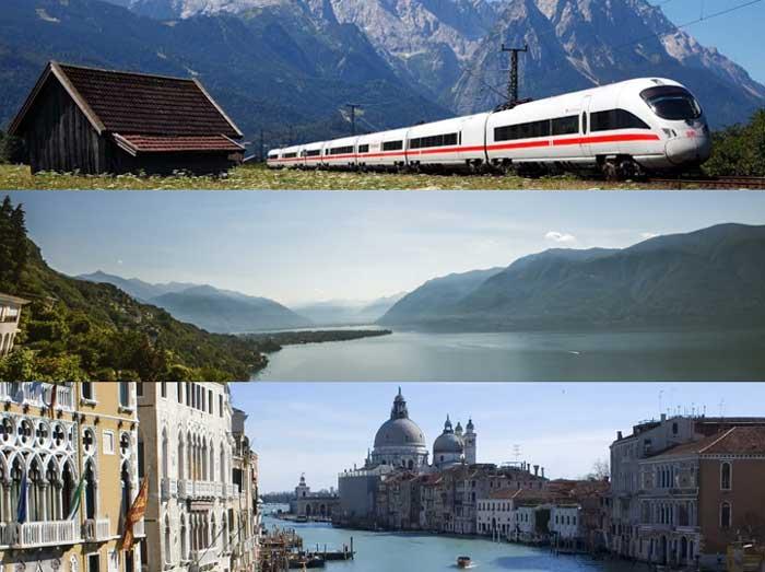 Bahn Gutschein Österreich, Italien oder Schweiz