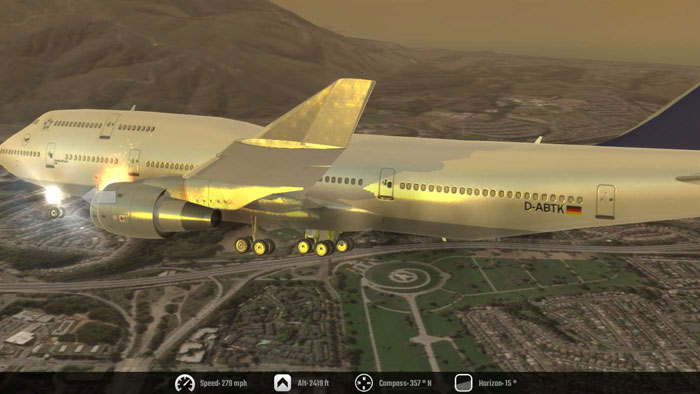 Flugsimulator Flugzeug