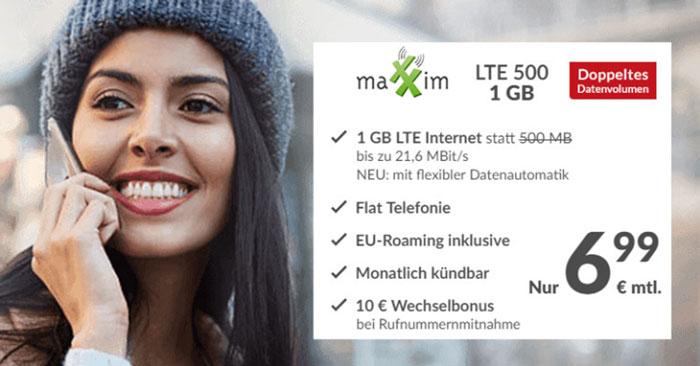 maXXim LTE 500 Tarif