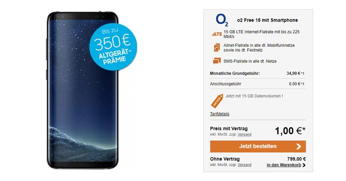 o2 Free 15 Vertrag + Samsung Galaxy S8