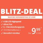 Blitz-Deal: winSIM Allnet Flat + 4 GB LTE Internet für 9,99€/Monat