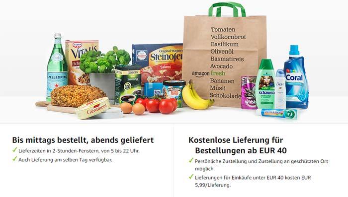Amazon Fresh Lieferung