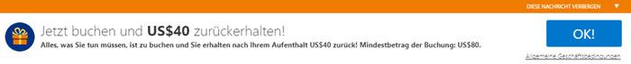 Booking.com Cashback beantragen