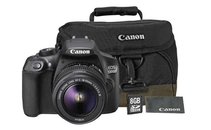 Canon EOS 1300D Kamera + 18-55MM DC Objektiv