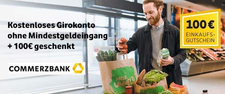 Commerzbank Girokonto + 100€ REWE Gutschein