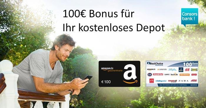 Consorsbank Depot + Amazon Gutschein