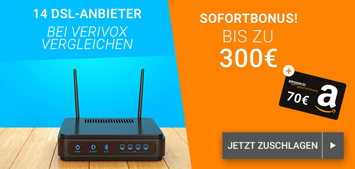 Verivox DSL Anbieter Wechsel + Amazon Gutschein