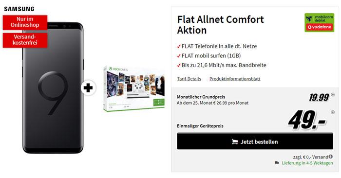 Vodafone Comfort Allnet Flat + Galaxy + XBOX