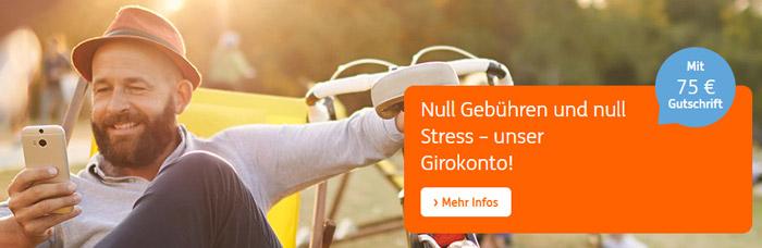 ING-DiBa Girokonto + 75€ Startguthaben