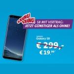 Samsung Galaxy S8 im Blau Allnet XL Tarif