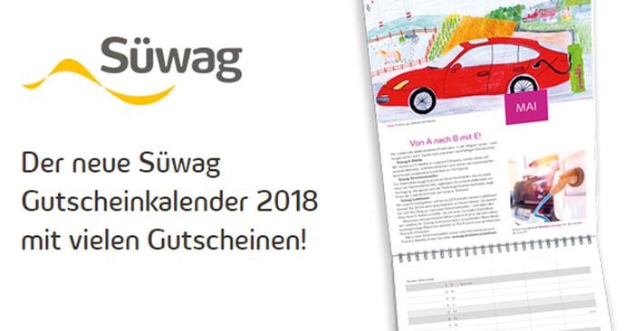 Süwag Kalender 2018 mit Gutscheinen