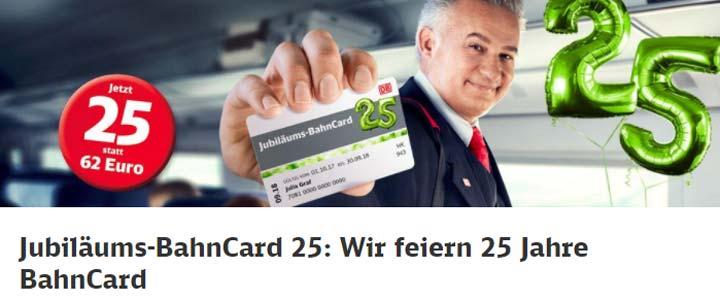Jubiläums-BahnCard 25