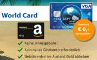 ICS Visa World Card Amazon Gutschein