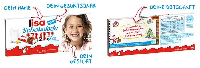 Kinderschokolade personalisieren