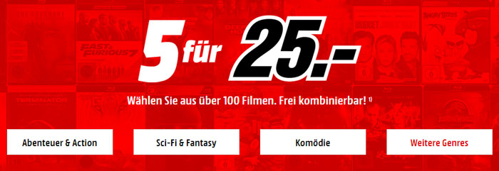 Media Markt Blu-Ray Aktion