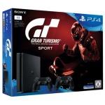 """PlayStation 4 Slim 1TB + Spiel """"Gran Turismo Sport"""" + 2x DualShock Controller für 301,99€"""