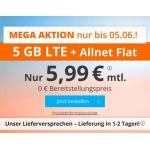 sim.de LTE All Tarife – z.B. 5 GB LTE + Allnet-Flatrate für 5,99€/Monat