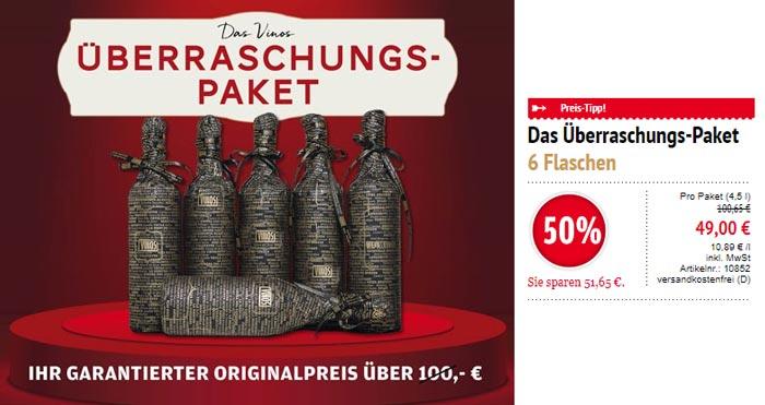 Wein & Vinos Überraschungspaket