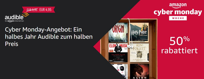 Audible Cyber Monday Angebot