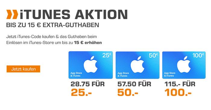 iTunes Guthabenkarten Bonus