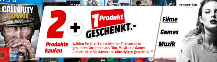 Media Markt Nimm 3 Zahl 2 Aktion