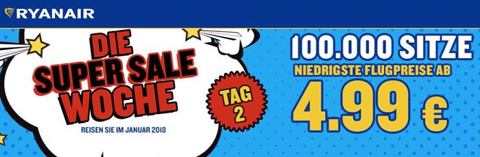 Ryanair Super Sale Woche