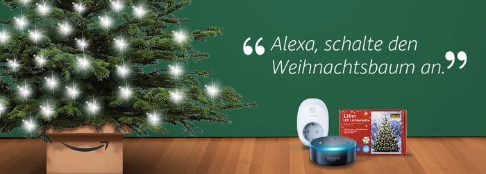 Alexa, schalte den Weihnachtsbaum ein