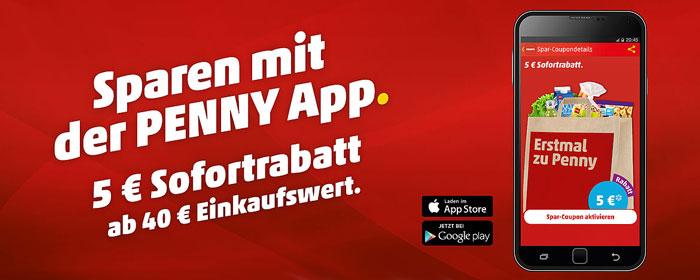 5 Penny Gutschein Per App Ab 40 Einkaufswert Im Supermarkt