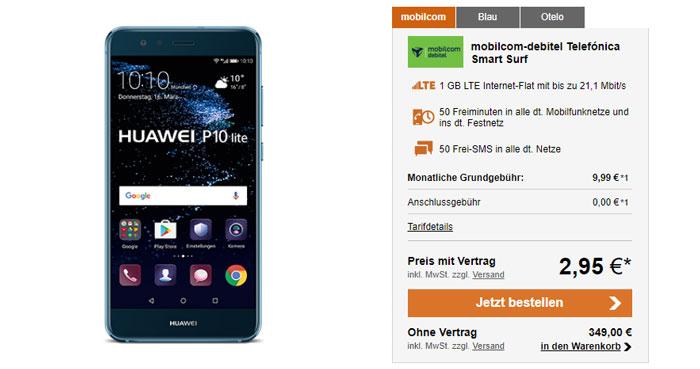 Telefonica Smart Surf Tarif Huawei P10 Lite
