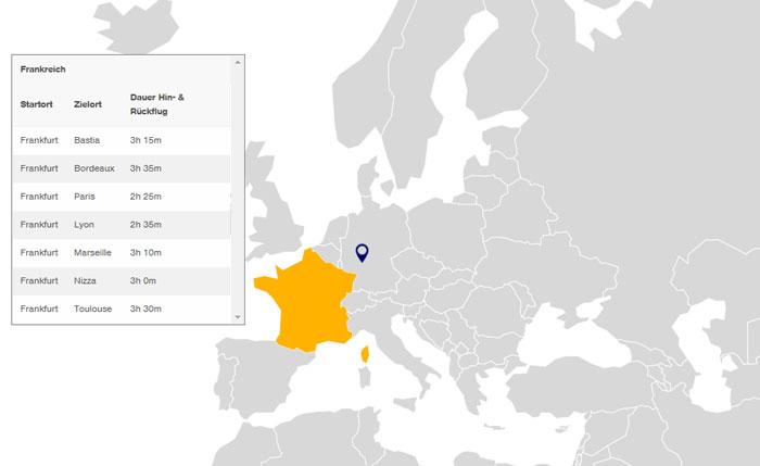 Timepass Ziele Frankreich