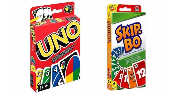 Kartenspiele UNO und Skip-Bo