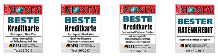 Barclaycard Auszeichnungen