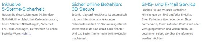 Barclaycard Sicherheit